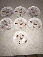 neiman marcus Ff Fitz Floyd Butterfly Garden Dessert Salad Plates Set 7 1975