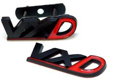 VAUXHALL VXD BADGE SET BLACK & RED REAR TAILGATE FRONT GRILL VXR OPEL NON CHROME