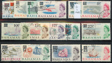 Bahamas 1966 Decimal Currency Overprints set of 15 used *COMBINED SHIPPING*