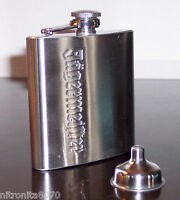 JAGERMEISTER STAINLESS STEEL FLASK AND FUNNEL BRAND NEW
