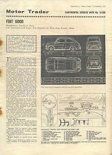 Fiat 600D Motor Trader Service Data No. 5/CSD 1963