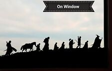 Lord of the Rings the Fellowship silhouette 22cm Vinyl Sticker Decal LotR Hobbit