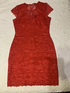 Bebe Ruffle Dress Size M