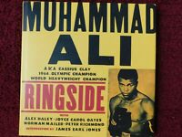 """MUHAMMAD ALI autographed 1999 BOOK """"RINGSIDE"""" FIRST EDITION - 10.5"""" X 10.5"""" -NEW"""