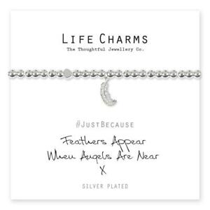 Life Charms Feathers Appear When Angels Are Near bracelet