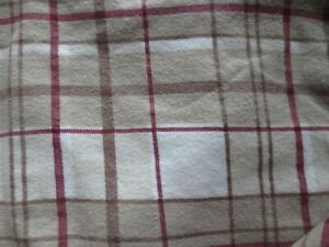 EUC CUDDL DUDS QUEEN Flannel Flat /Fitted Sheets & 2 Standard Pillow Cases Plaid
