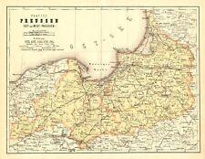 Ostpreussen Westpreussen Faksimile 27 nach Original Karte von 1865 Ostsee Danzig