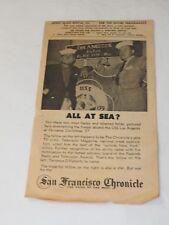 """""""THE MOST HAPPY FELLA"""" 1958 Souvenir Program CURRAN THEATRE San Francisco"""