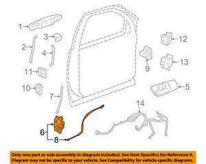 GM OEM Front Door-Door Lock Kit 25876387