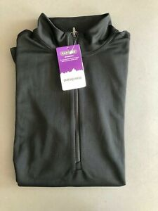 PATAGONIA Capilene Midweight shirt BLACK 1/4 Zip Baselayer NEW  #44455 Womens L