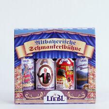 74,38€/L.Liebl Schmankerlbühne 4 Fläschchen 0,04 Ltr. Likör, Obstbrand, Blutwurz