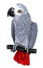 Embroidered Fleece Jacket - African Grey Parrot BT4635