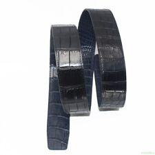 Luxury Men's Replacement Belt No Buckle Crocodile Leather DOUBLE SIDE
