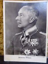 Autograph Original Unterschrift Kronprinz Wilhelm Danksagung 1935 an Herr Dresky