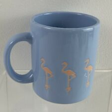 Vintage Waechtersbach Coffee Mug Cup Flamingos Light Pastel Blue Pink Spain 10oz