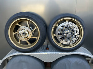 Kawasaki Zx10rr Marchesini Forged Front & Rear Wheels With Rotors GOLD Like New