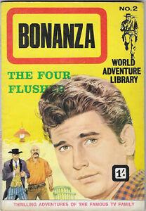 "Dated 1967 ""BONANZA"". Western picture comic #2. World Adventure Library."
