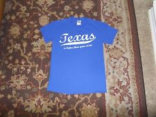 TEXAS IS BETTER THAN YOUR STATE BLUE T SHIRT SMALL CENTRAL TEXAS GUN WORKS