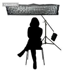 Flash Estroboscópica Cabello Luz Kit 30x140cm Fácil de Abrir Tira Softbox 2 IN 1