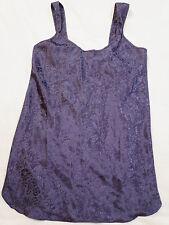 Jenny Buchanan Intimate Sleepwear Lingerie Purple Short Night Gown M Medium