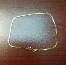 """14k Yellow Gold Speidel Flat Chain Bracelet, 7.75"""" 1.3g"""