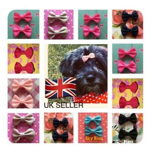 Pink Leopard Print Ear Bows for Dog Hair  Pink Leopard Hair Accessory for Dogs
