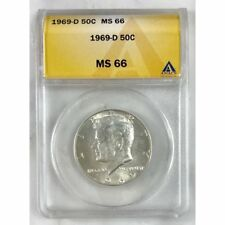 1969 D Kennedy Half Dollar ANACS MS66 #3063120