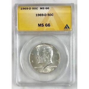 1969 D Kennedy Half Dollar ANACS MS66 #3063120