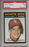 1971 TOPPS # 661 CHUCK TANNER,  PSA 7 NM, SHORT PRINT, HIGH #, CHICAGO WHITE SOX