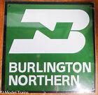 Microscale Metal Sign 10027 Burlington Northern Die Cut, Embossed Metal Sign