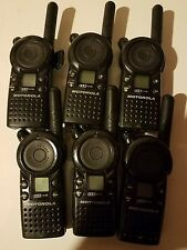6 Motorola CLS1110 Radios with Batteries & Back covers