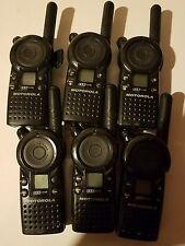 6 Motorola CLS1110 Radios & Back covers