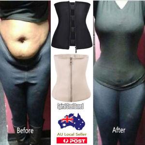 Latex Zip Body Shaper Waist Trainer Slimming Corset Slim Belt Girdle Shapewear