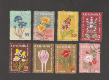 ROMANIA 1959 FLOWERS USED SET + MAJOR COLOR ERROR