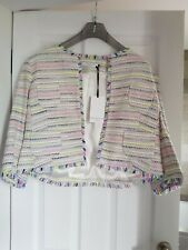 RRP £99 BNWT John Lewis Collection Jacket Bright Stitch fray Size 16 Occasion