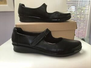 Clarks Womens Shoes Size 9/43 Black. Hope Henley. New In Box