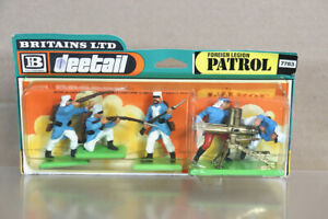 BRITAINS 7383 DEETAIL WWII FRENCH FOREIGN LEGION & GATTLING GUN CARDED BOXED nz
