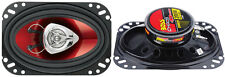 BOSS CH4620 4 x 6 Inch 200W 2 Way Car Coaxial Audio Speakers Stereo, Red (Pair)