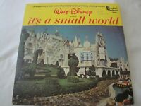 WALT DISNEY'S IT'S A SMALL WORLD W/ FULL COLOR ILLUSTRATED BOOK VINYL LP ALBUM