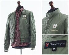 Mens TONINO LAMBORGHINI Shell Harrington Jacket Coat Green Khaki Size M