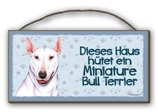 Cette Assemblée-Miniature Bull Terrier-holzschild MDF 25x12,5 cm 36 chiens Bouclier