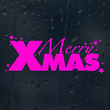 Merry Christmas Red Decorations Car Decal Vinyl Sticker