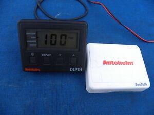 Autohelm Z154 (RayMarine) Depth Display Head w Cover - Works Good