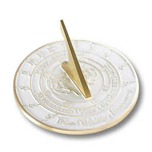 30th Pearl 2021 Wedding Anniversary Sundial Gift By The Metal Foundry