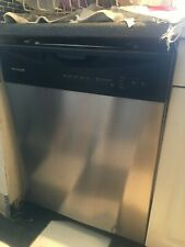 Frigidaire stainless-steel Dishwasher and gas stove and microwave