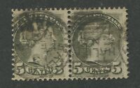 CANADA #38 USED PAIR DATED