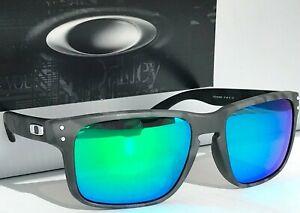 NEW Oakley HOLBROOK Matte Black Camo POLARIZED Galaxy Jade Iridium Sunglass 9102