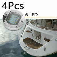 "4pcs Round 3"" Marine Boat White LED Stern Light Cabin Deck Walkway Ship Lights"