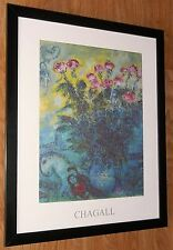 Marc Chagall print - 20''x16'' framed, abstract wall art, Les Roses