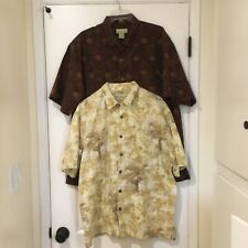 (2) Trader Bay Men's button down short sleeve SZ XL